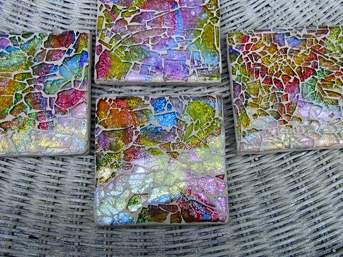 Colorful, tempered glass mosaic tile set | by beamoore