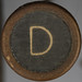 typewriter key letter D