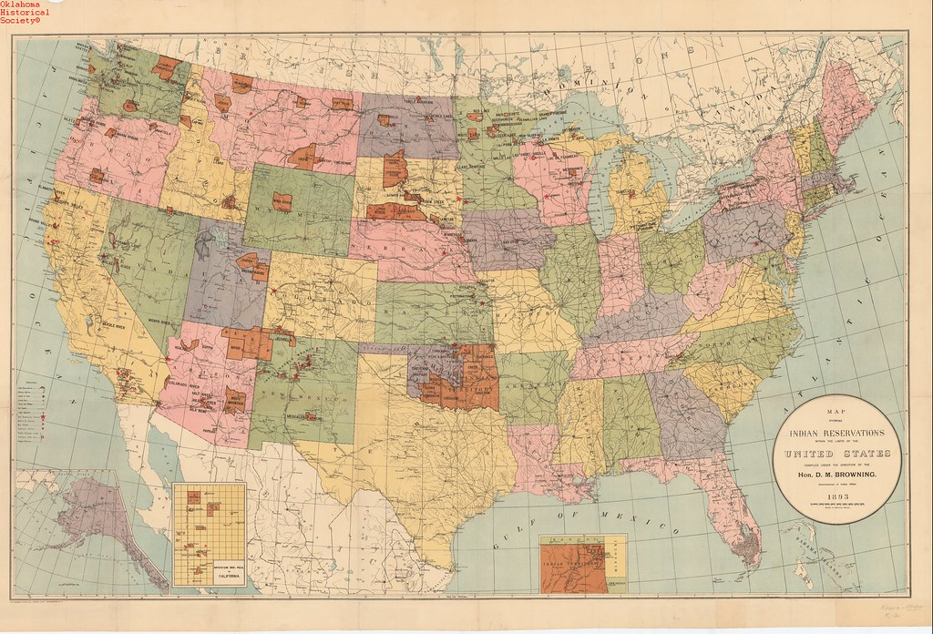 Map of Indian Reservations in US 1893 Date 1893 OHS Map Flickr