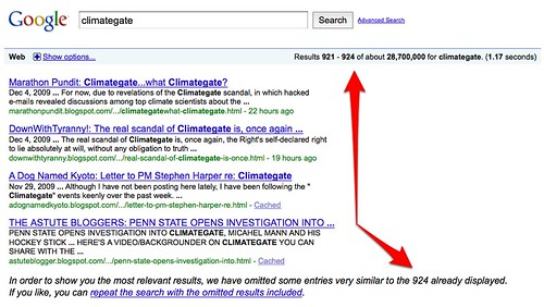 Google & Climategate | by search-engine-land