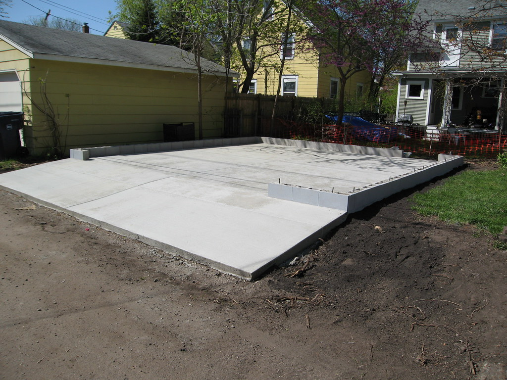 St Paul Garage Slab This Is A Great Example Of Where The