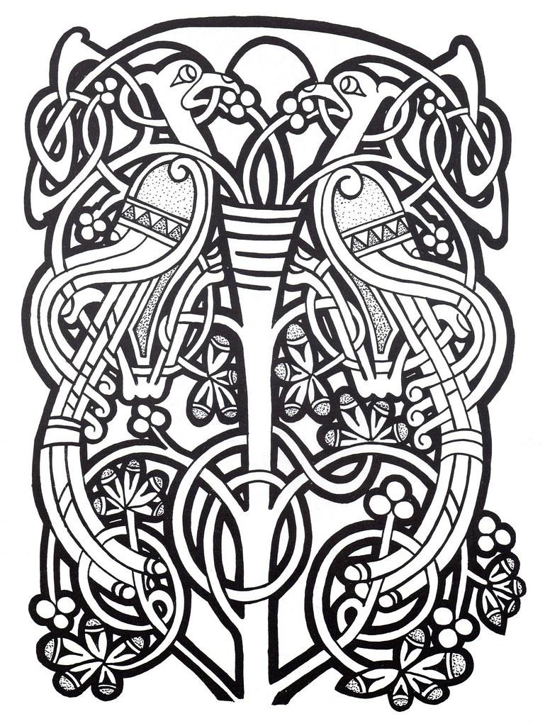 Celtic Design 037 Bibliodyssey Blogspot Com 2009 07