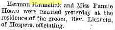Harmen Harmelink wedding Sioux County Herald 3 July 1884 | by yhoitink