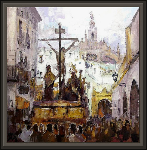 Sevilla la semana santa en andalucia pinturas religios for Todo pintura sevilla