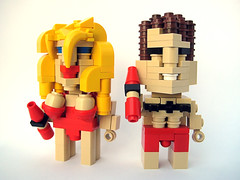 CubeDudes Pam and The Hoff