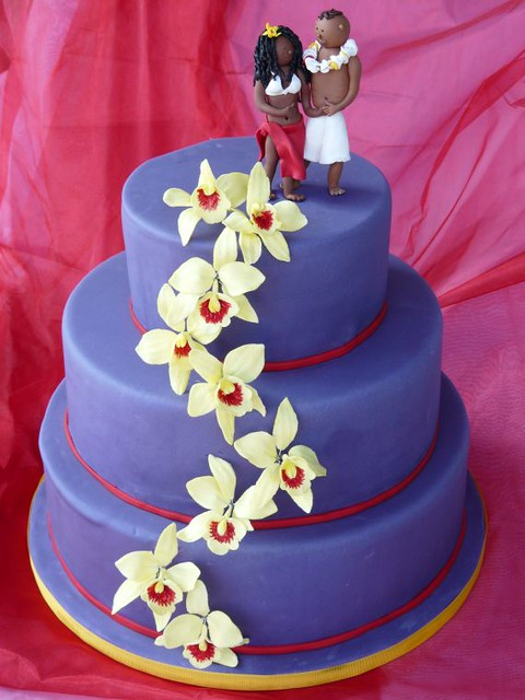 Hochzeitstorte Lila Mit Orchideen Www Suess Und Salzig De Flickr