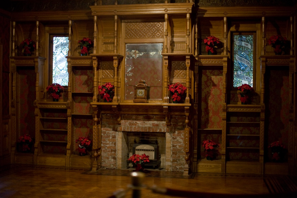 The Ballroom Fireplace At The Winchester House The