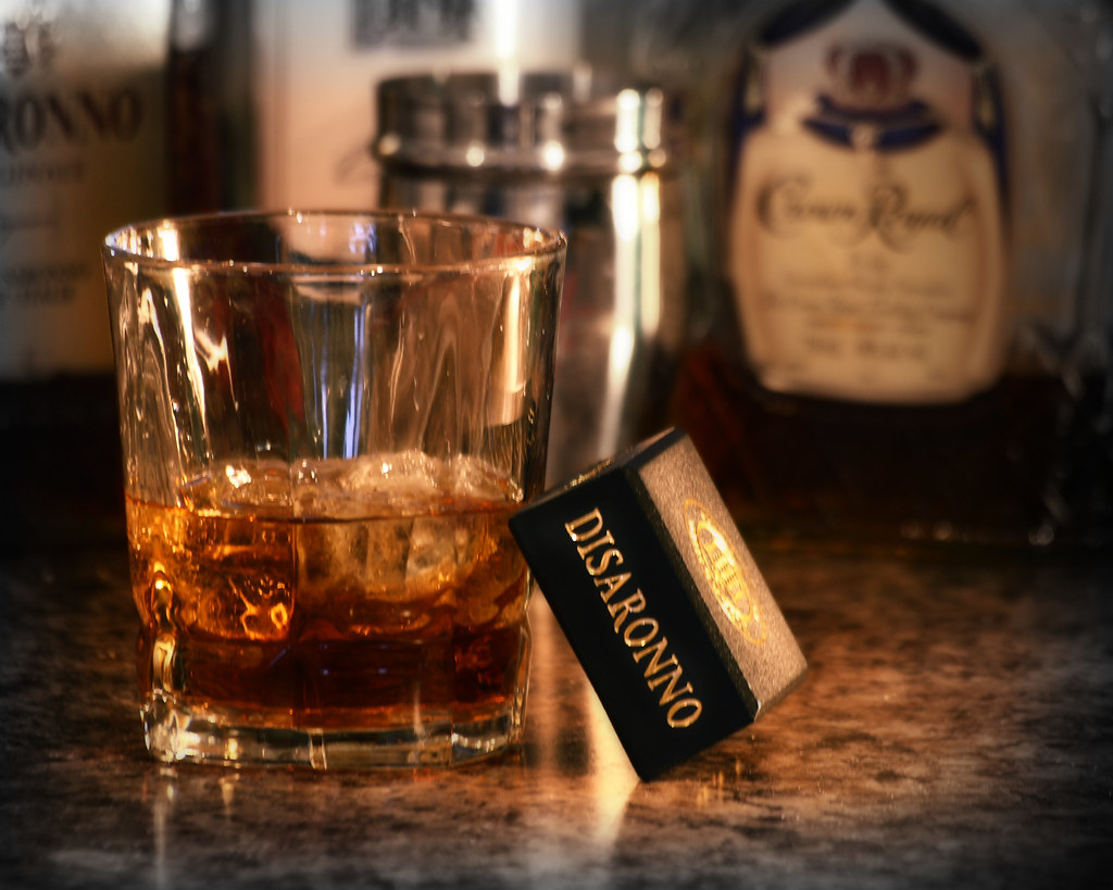 Disaronno on the Rocks | Took this photo for the bar. | Flickr