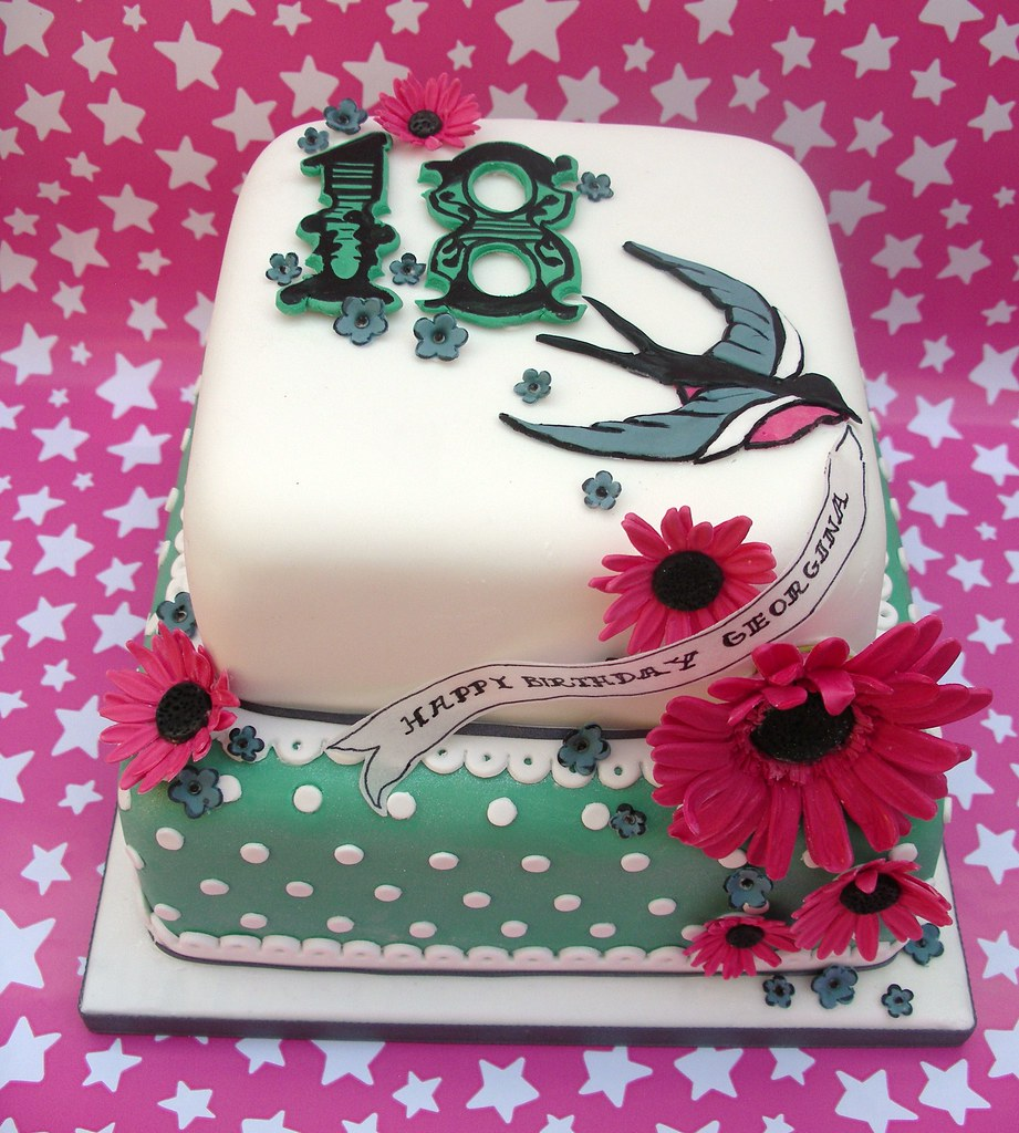 Georginas 18th Birthday Cake Lynette Horner Flickr
