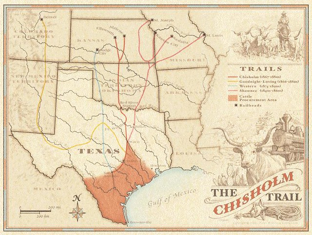 Map Of Chisholm Trail The Chisholm Trail Round Rock Community - Chisholm trail map