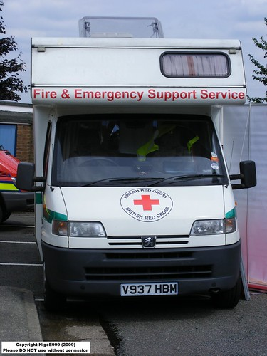 (427) Cheshire F R S - British Red Cross - Fire and Rescue Support Service - Peugeot - V937 HBM | by Call the Cops 999