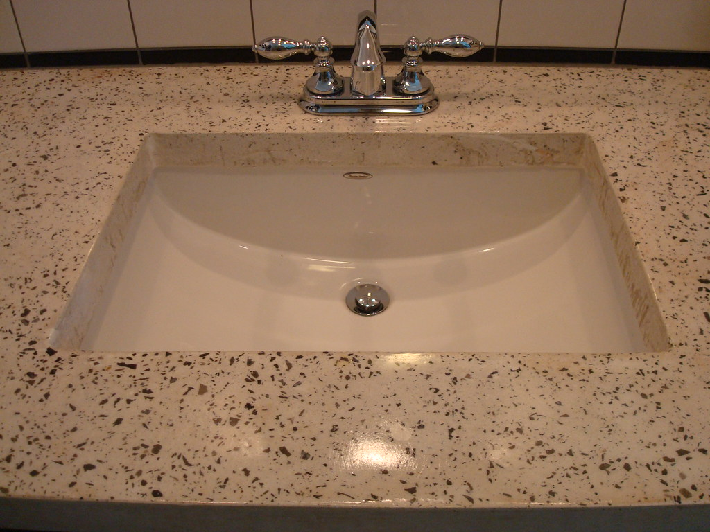 White Exposed Aggregate Concrete Countertop | Residential Guu2026 | Flickr