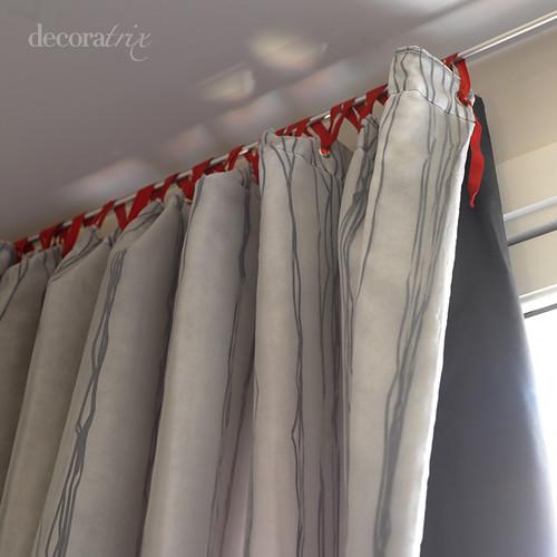 Colgar una cortina con cintas con la barra se pueden for Enganches cortinas
