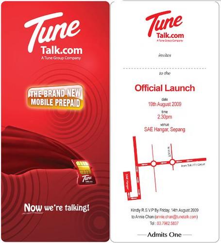 Tune Talk Official Launch Tune Talk Official Launch invita – Launching Invitation Card