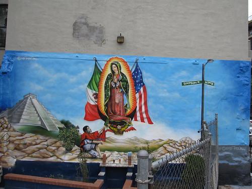 La virgen de guadalupe mural by tats cru simpson street for Mural 7 de setembro
