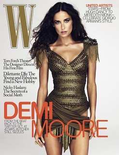 "Demi Moore gets the Ralph Lauren treatment in December ""W"" 