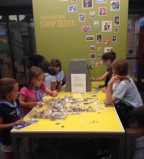 campers at the postal museum