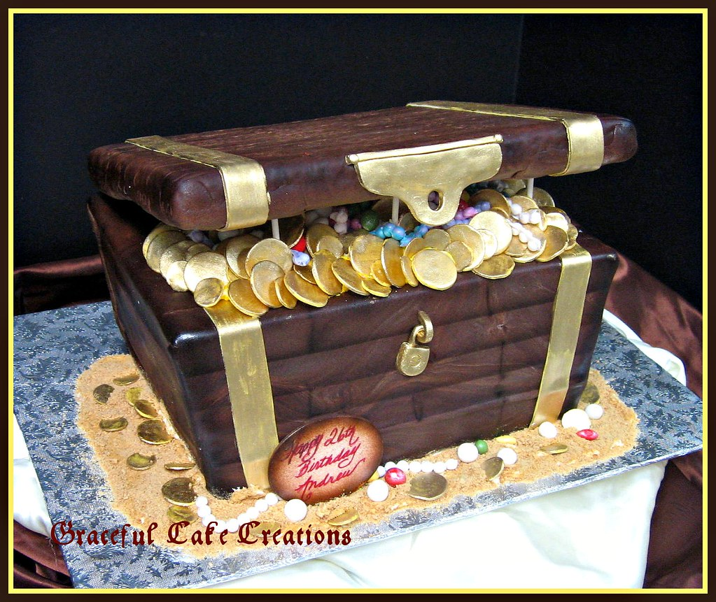 Pirate Treasure Chest Birthday Cake Grace Tari Flickr