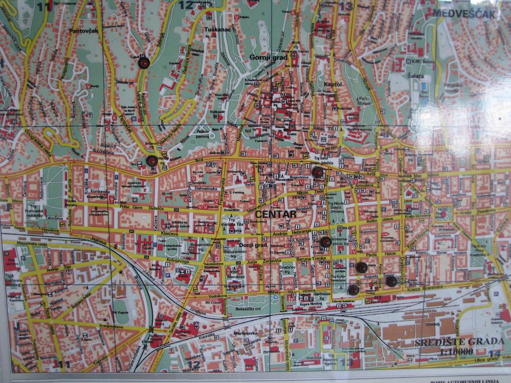 Zagreb city map | Duygu_ | Flickr on
