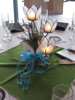 Wedding centerpieces with peacock feathers | by kgroovy