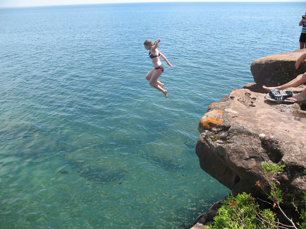 Cliff Jumping Madeline Island Me Cliff Jumping At