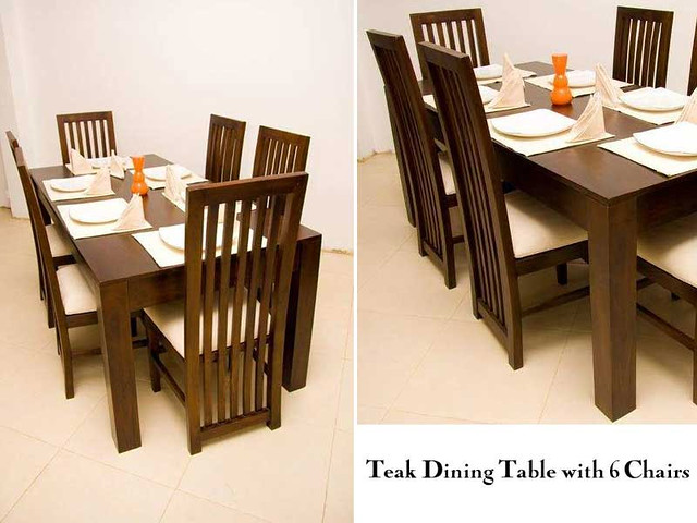 teak-dining-table | This is a Teak Dining Table with 6 Chair… | Flickr