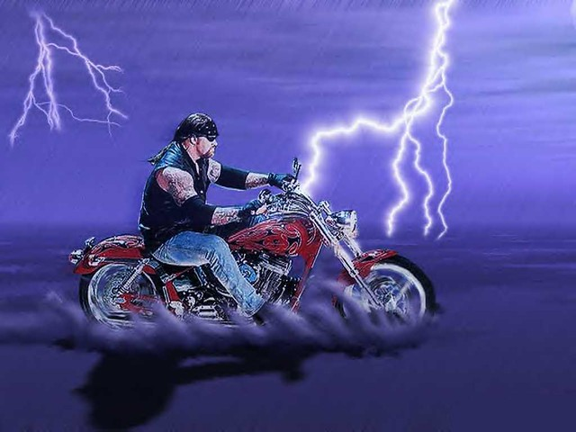 WWF WWE Undertaker Wallpaper 8 Rollin Thunder