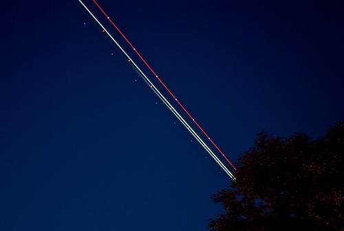 Airplane showing its lights | by marlon.net