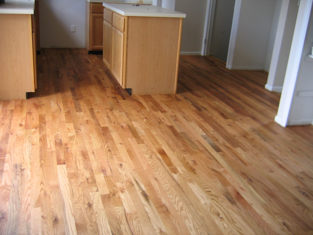 Install red oak after golden oak stain all natural for Natural red oak floors