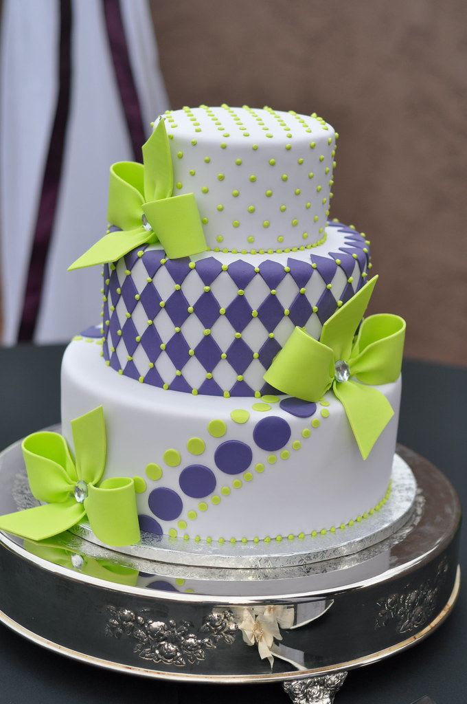 purple and lime green wedding cakes purple amp green wedding cake april flickr 18862