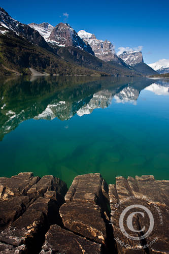 Mountain Peaks Reflected in St. Mary Lake - Glacier National Park | by jimgoldstein