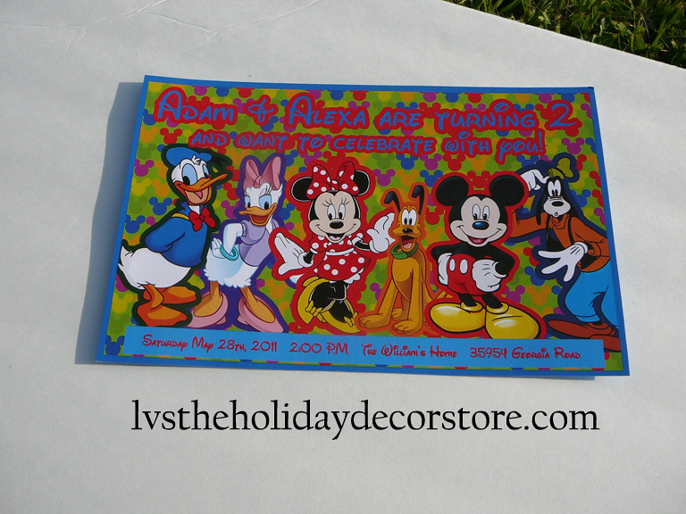 Personalized Mickey Mouse Clubhouse Party Invitations Flickr