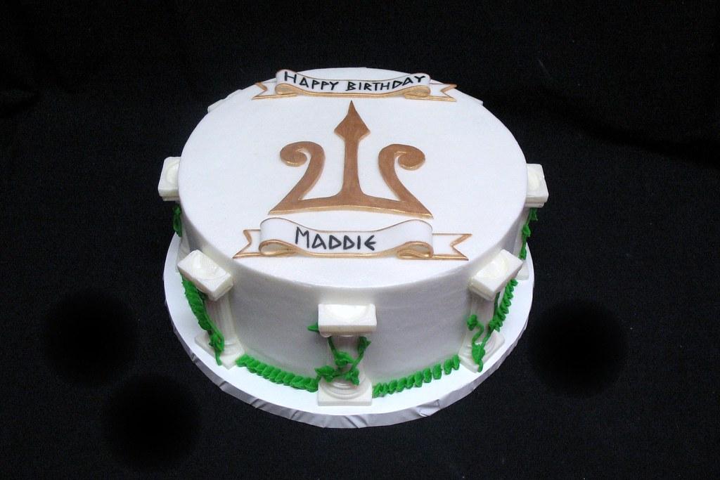 Greek Mythology Inspired Birthday Cake For A Little Girl