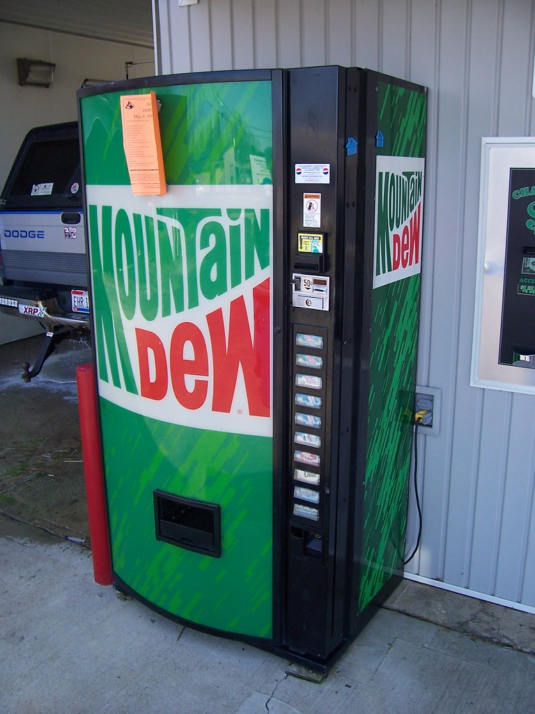 mountain dew vending machine for sale