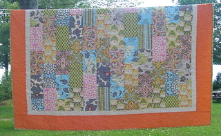 "Amy Butler ""Brick Path"" Quilt With Lotus Fabrics 