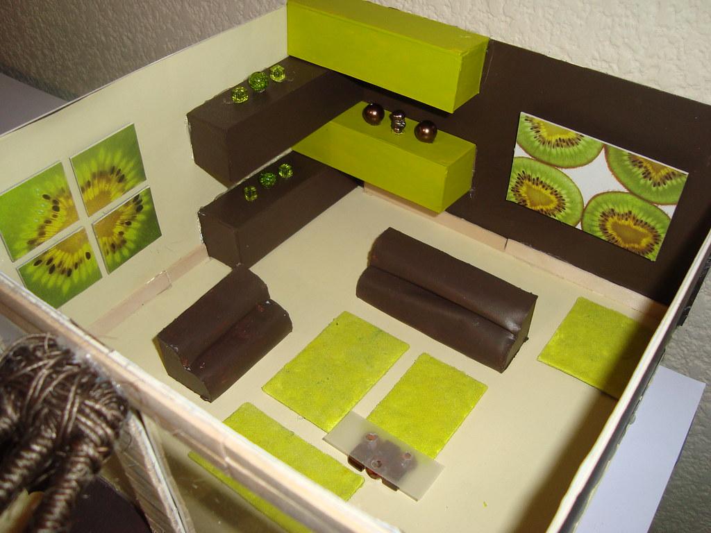 Mi primer maqueta de interiores deli by di flickr for Decoracion reciclaje interiores