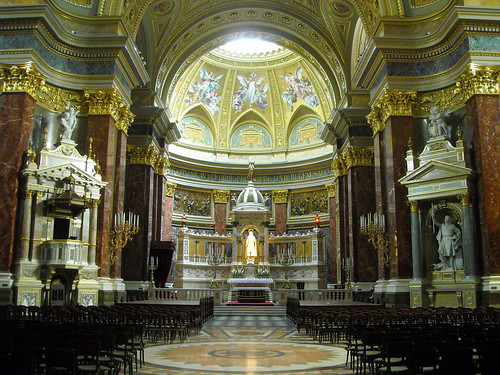 Interior view of St. Stephen's Basilica, Budapest | by imre.farago