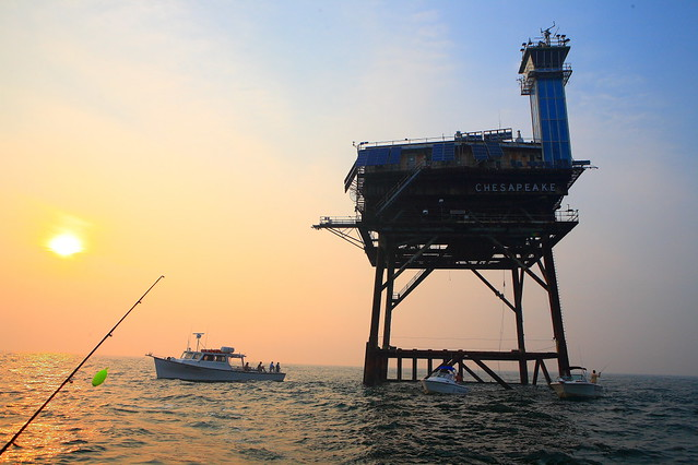Fishing by the chesapeake light tower one of many for Fishing spots in virginia beach