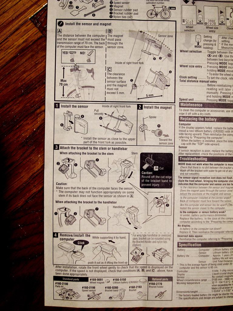 Cateye Strada Wireless Manual 2 Doug D Flickr