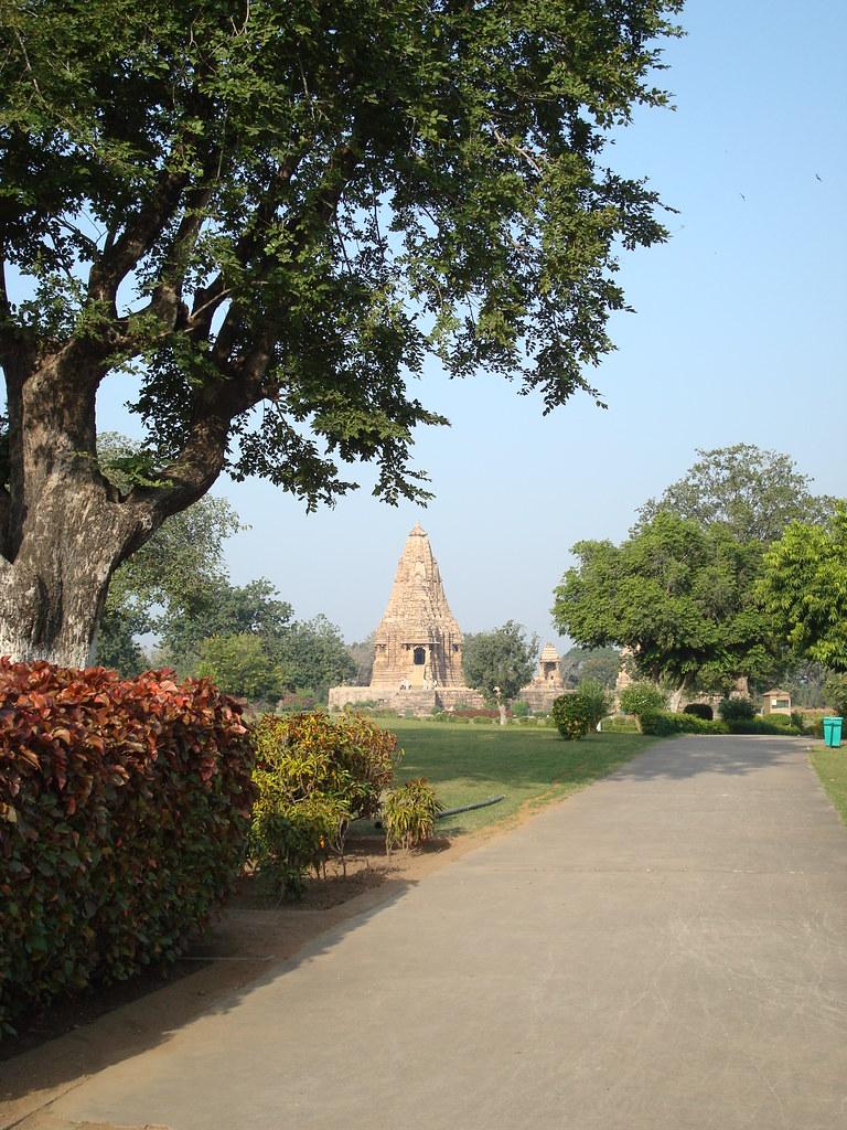 kandariya mahadeva distant view from east title