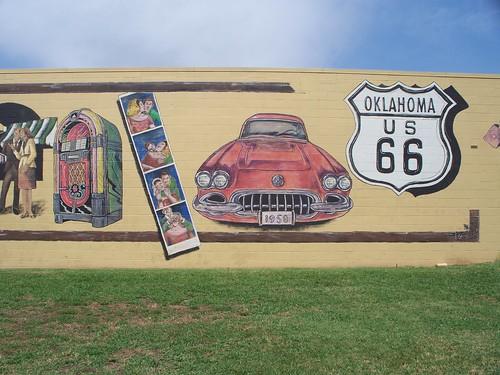 Route 66 mural in edmond oklahoma linda sanders flickr for Route 66 mural