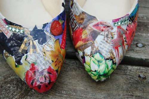 Decoupage(ish) shoes | by Stacie Stacie Stacie