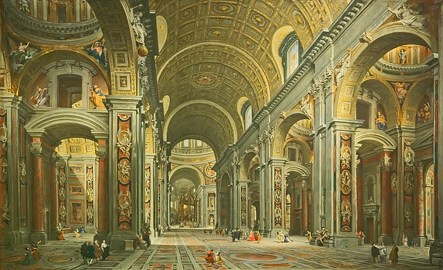 Oil Painting Quot Interior Of St Peter S Rome Quot By Giovanni