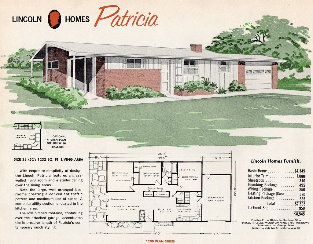 One Story House Blueprints Lincoln Homes Quot Patricia Quot 1232 Sq Ft Living Area Flickr