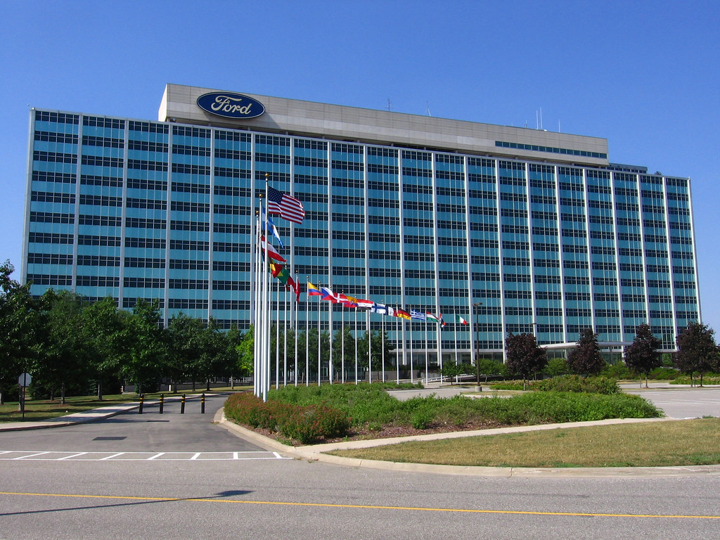 ford motor company world headquarters after taking some