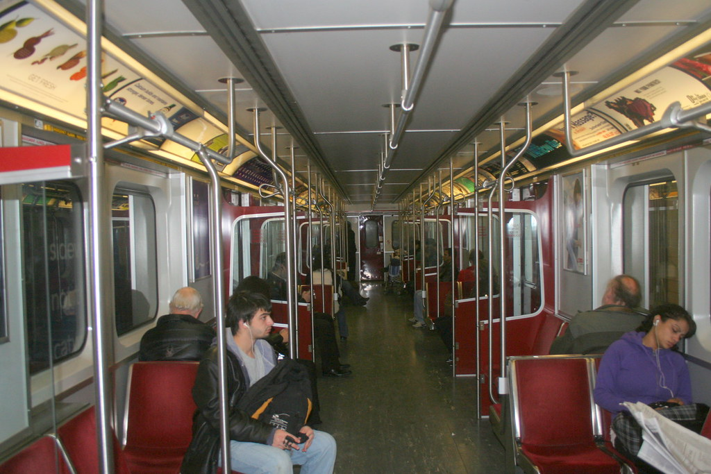 interior of a bombardier subway car yes the toronto subwa flickr. Black Bedroom Furniture Sets. Home Design Ideas