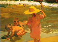 Sorolla, Joaquin (1863-1923) - 1903 Children on the Seashore (Philadelphia Museum of Art, U.S.A.) | by RasMarley
