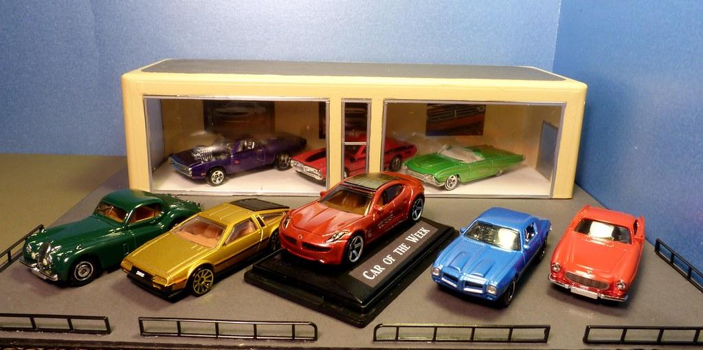 model car showroom garage lot home made hot wheels. Black Bedroom Furniture Sets. Home Design Ideas