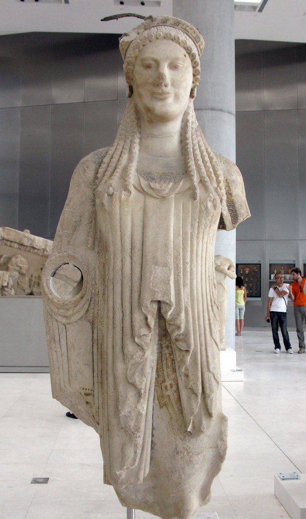Kore Acr 673 520 510 Bc Parian Marble New Acropolis