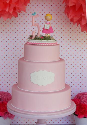 Cake Designs For 5th Birthday Girl : Olivia s 5th Birthday cake It s a little bit weddingish ...